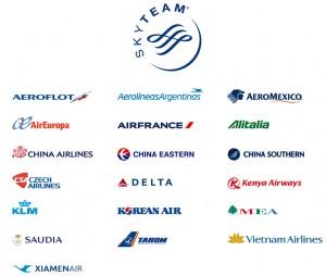 Aerolíneas socias SkyTeam
