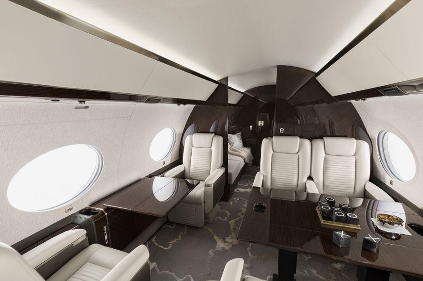 Interior de una aeronave Gulfstream G650ER