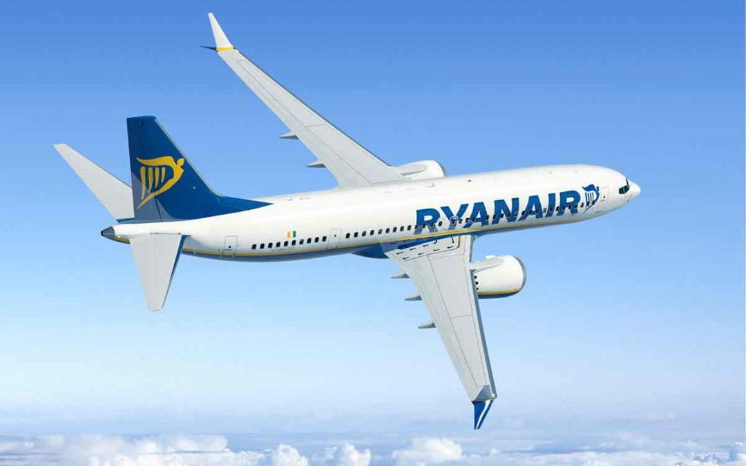 Ryanair consigue un 93% de puntualidad en febrero